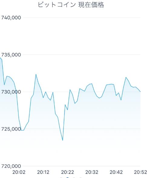 銘柄のチャート(ビットコイン)
