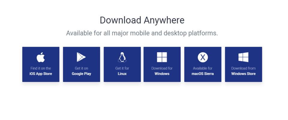 自分の使っているデバイスのOSを選択する画面